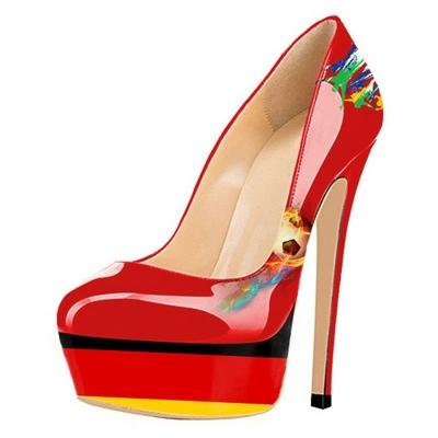 """Chaussures à talon et plateforme """"drapeau"""" Allemagne"""