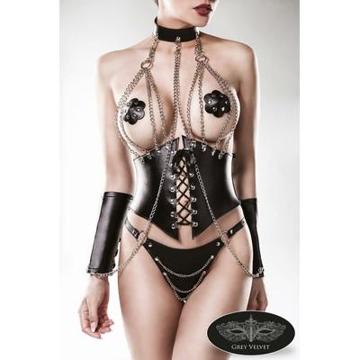 Ensemble corset érotique 4 pièces par Grey Velvet
