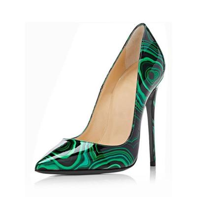 Chaussures à talons aiguilles Noir/Vert