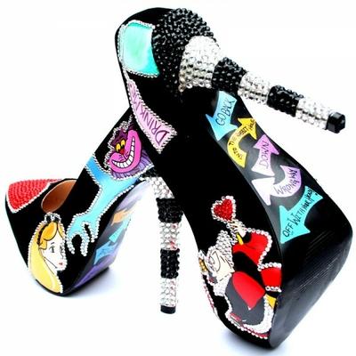Chaussures à talon Alice aux pays des merveilles Disney