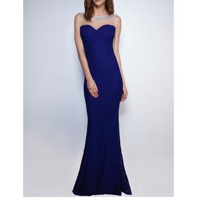 Robe longue sirène - Bleu - Soky & Soka