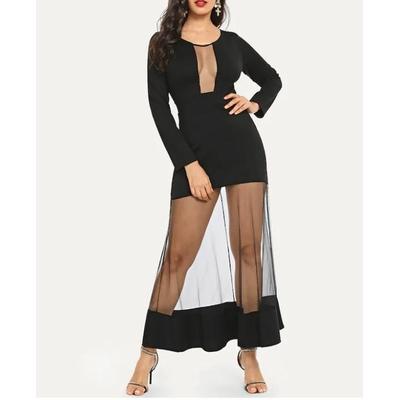 Robe longue de soirée - Noir