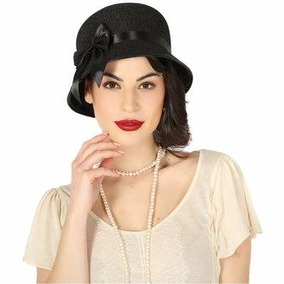 Chapeau noir Charleston Lady