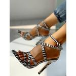 Sandales imprimées zèbre