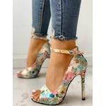 Chaussures à fleurs à talon