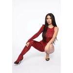 Kat Nip Jumpsuit - Red 2