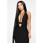 Call The Limo Halter Maxi Dress - Black 4