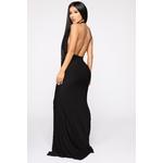 Call The Limo Halter Maxi Dress - Black 3