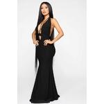 Call The Limo Halter Maxi Dress - Black 2