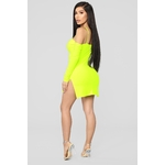 Highlight Of My Day Mini Dress - Neon Yellow 5