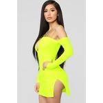 Highlight Of My Day Mini Dress - Neon Yellow 4