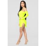 Highlight Of My Day Mini Dress - Neon Yellow 3