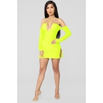 Highlight Of My Day Mini Dress - Neon Yellow 2