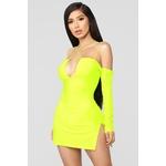 Highlight Of My Day Mini Dress - Neon Yellow
