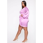Lucky One Satin Mini Dress - Lavender 4