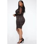 My Forever Love Plaid 2 Piece Dress - Black Combo 4