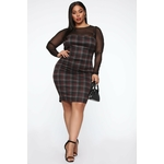 My Forever Love Plaid 2 Piece Dress - Black Combo 3
