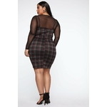 My Forever Love Plaid 2 Piece Dress - Black Combo 2
