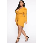 Owning This Moment Mini Dress - Mustard 4
