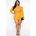 Owning This Moment Mini Dress - Mustard 3