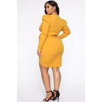 Owning This Moment Mini Dress - Mustard 2