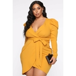 Owning This Moment Mini Dress - Mustard