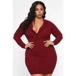 Always On Top Mini Dress - Burgundy