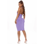 Damn Fine Bandage Mini Dress - Purple 3