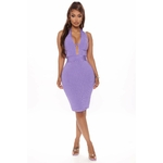Damn Fine Bandage Mini Dress - Purple