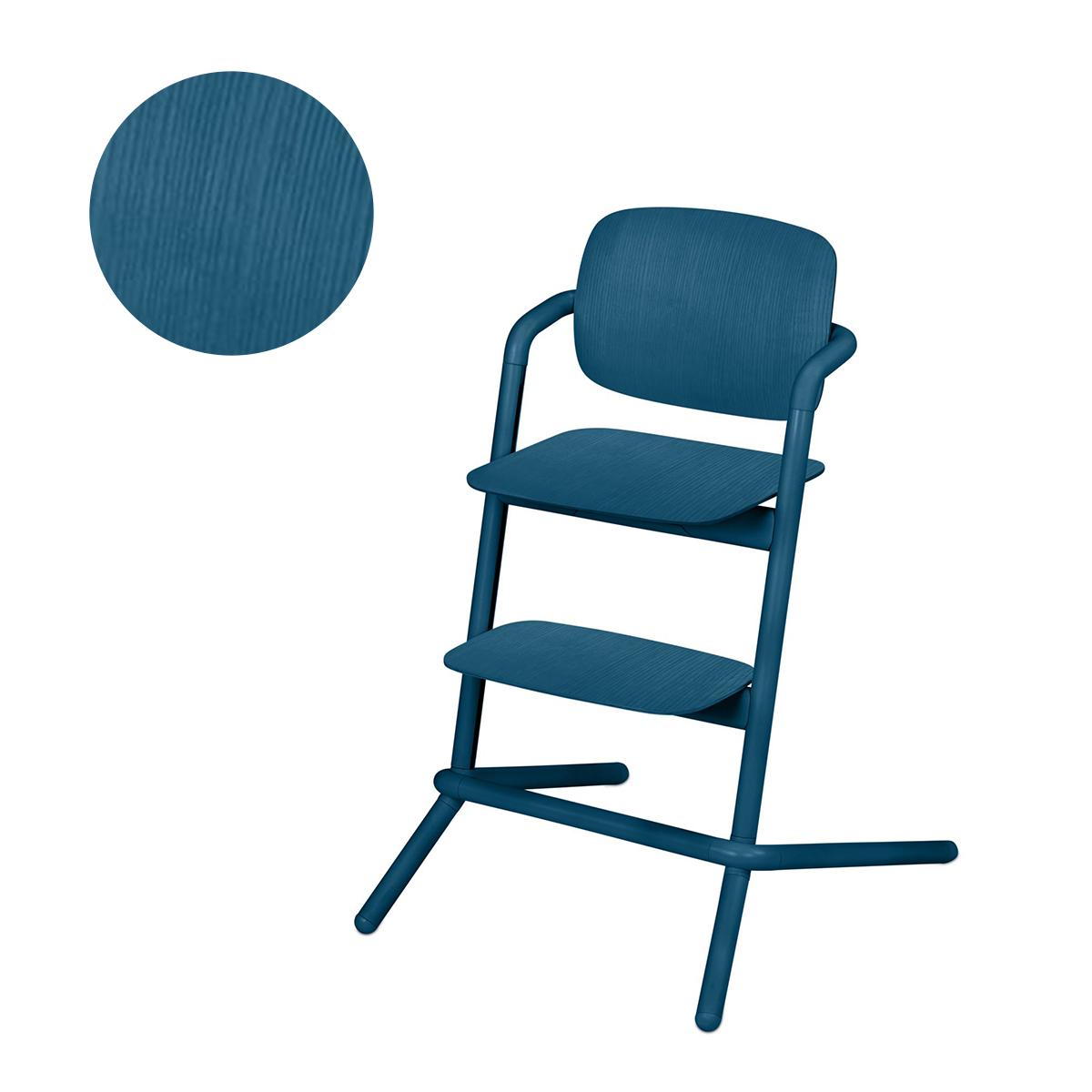 Chaise haute Cybex Lemo bois - Twilight Blue