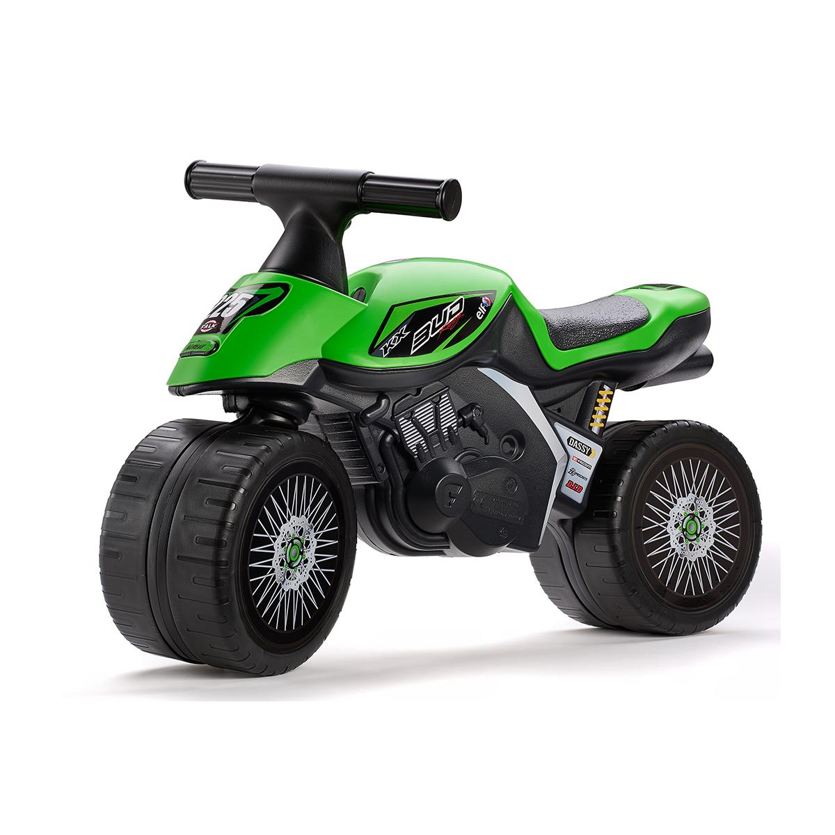 Porteur Falk Baby Moto Kawasaki Bud Racing - Vert