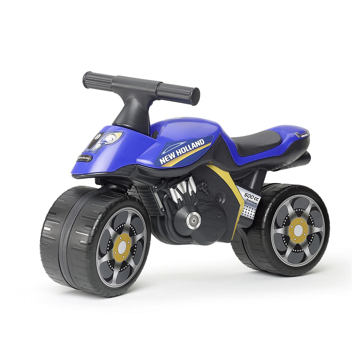 Porteur Falk Baby Moto New Holland - Bleu