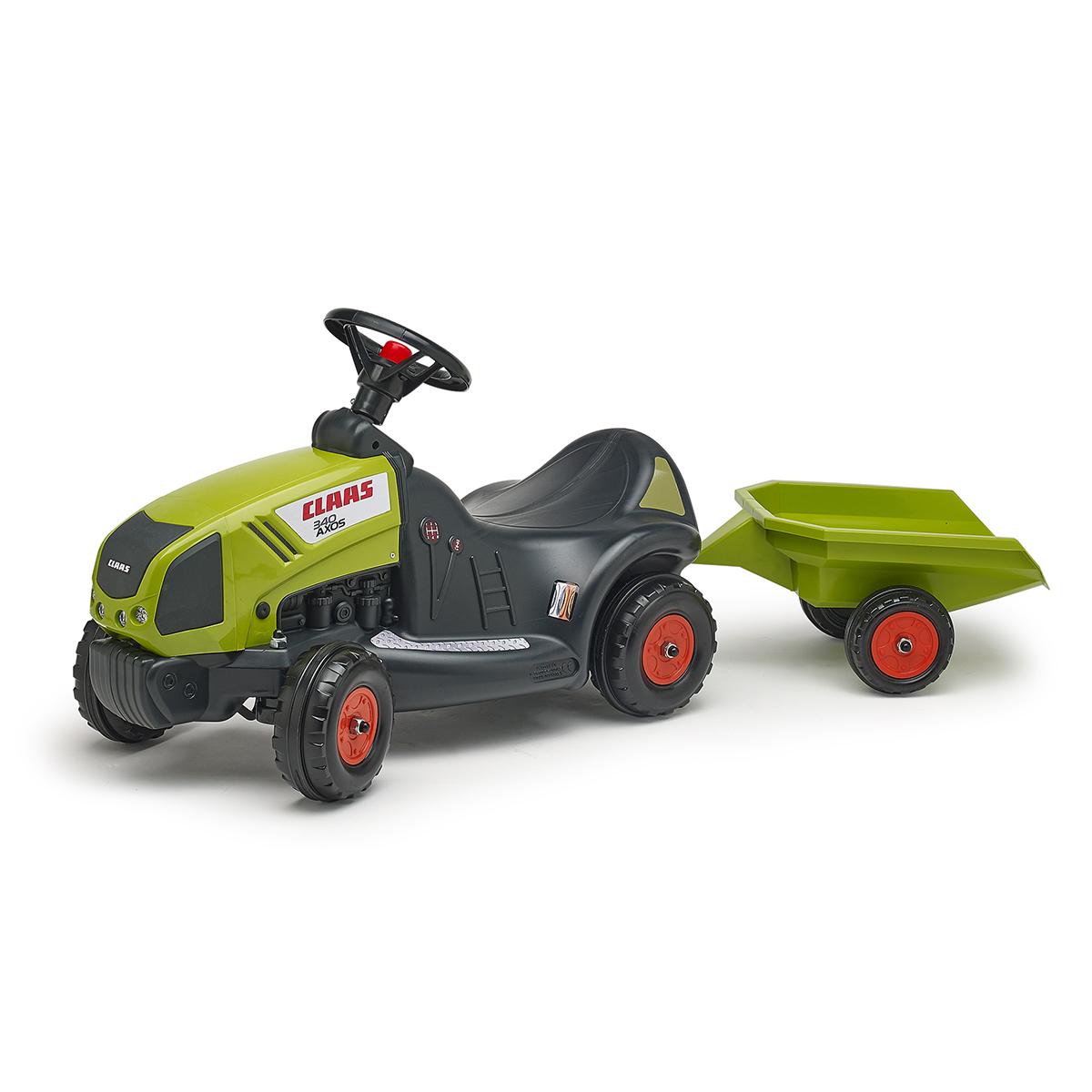 Porteur Falk Tracteur Claas avec remorque - Vert