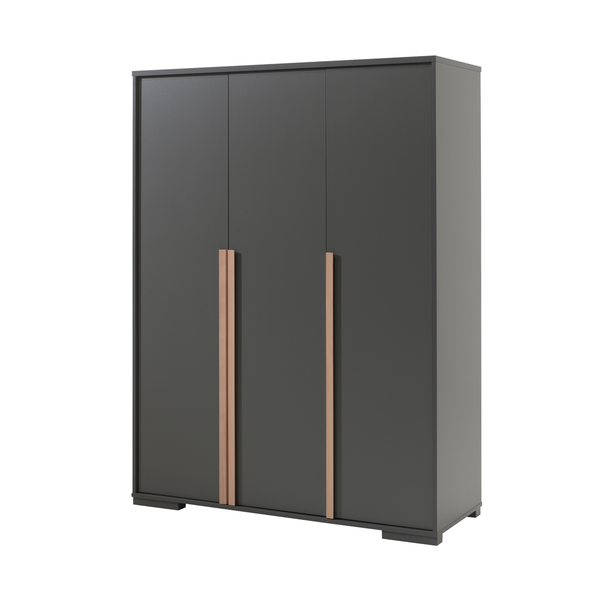 Armoire 3 portes Vipack London - Anthracite
