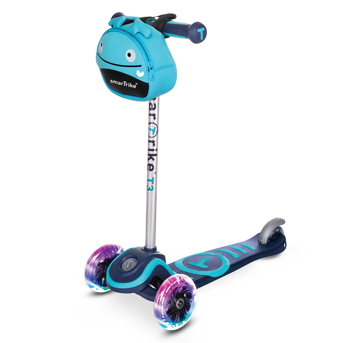 Trottinette Smartrike 3 roues - Scooter T3 Bleu