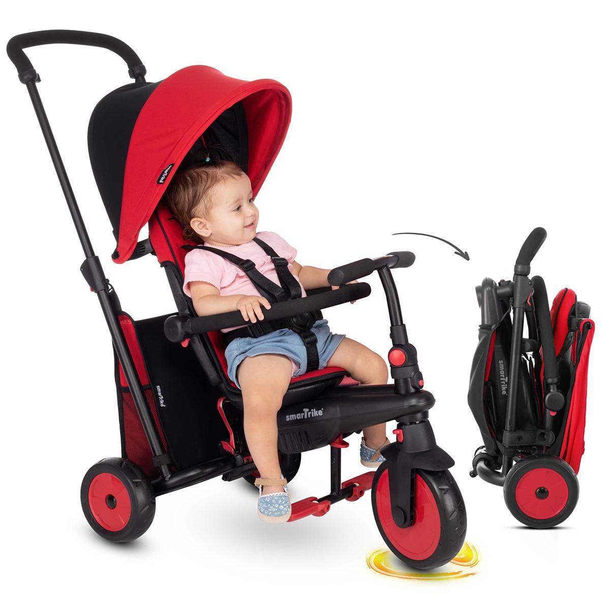 Tricycle Smartrike pliable évolutif 6en1 - STR3 Rouge