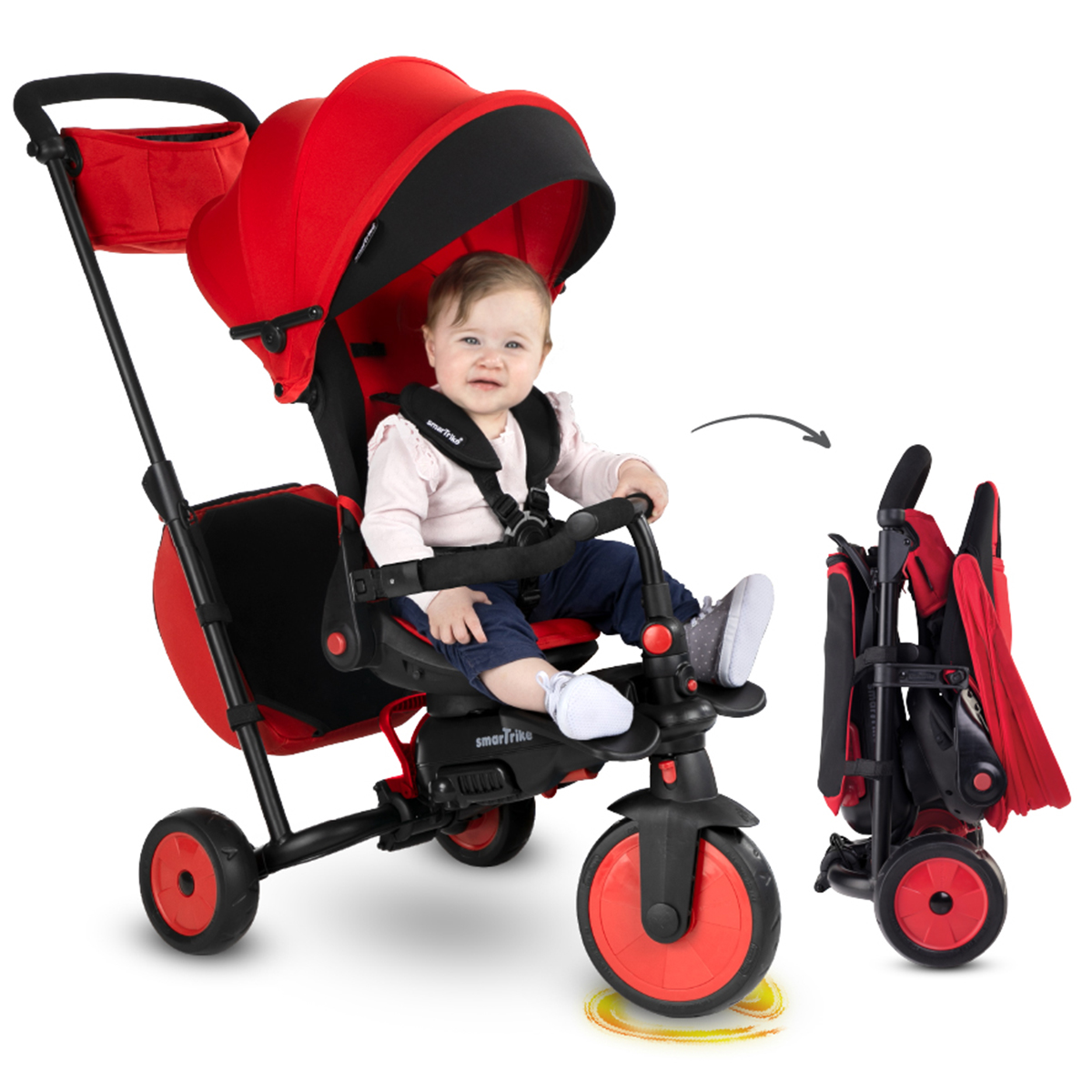 Tricycle Smartrike pliable évolutif 7en1 - STR7 Rouge