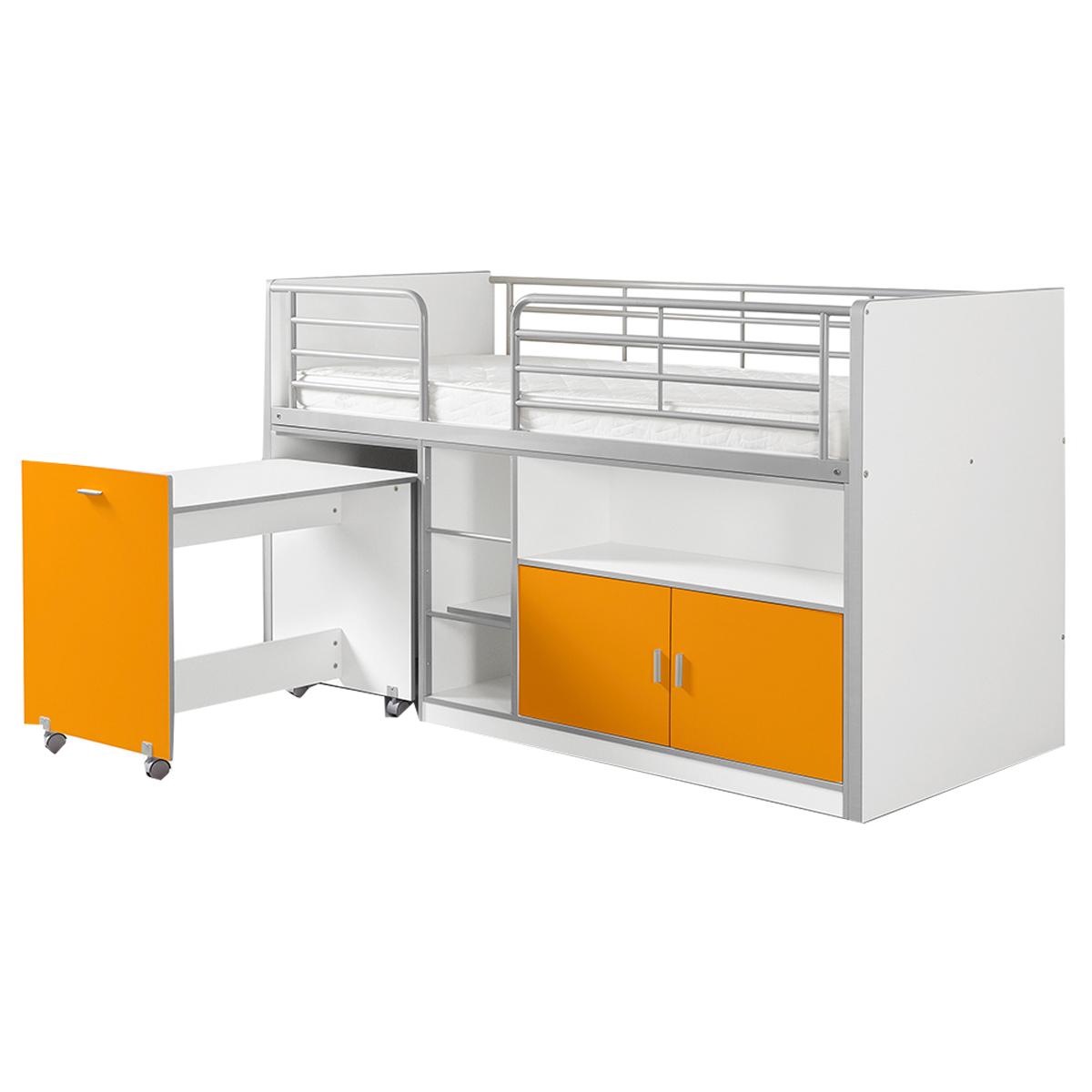 Lit combiné 91 90x200 Sommier Inclus Vipack Bonny - Orange