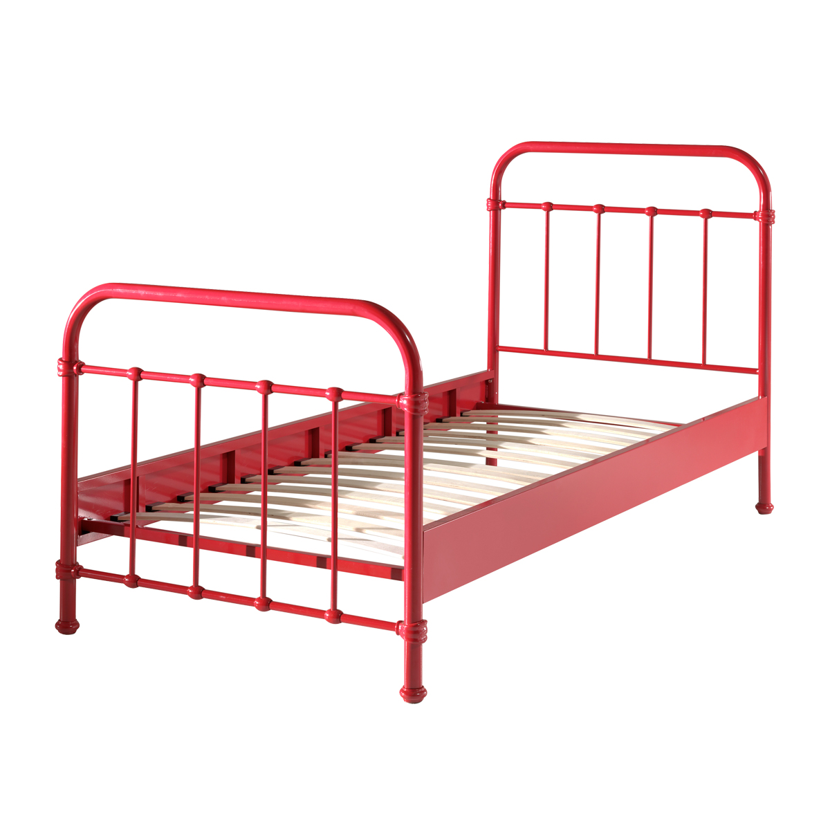 Lit 90x200 Sommier inclus Vipack New York - Rouge