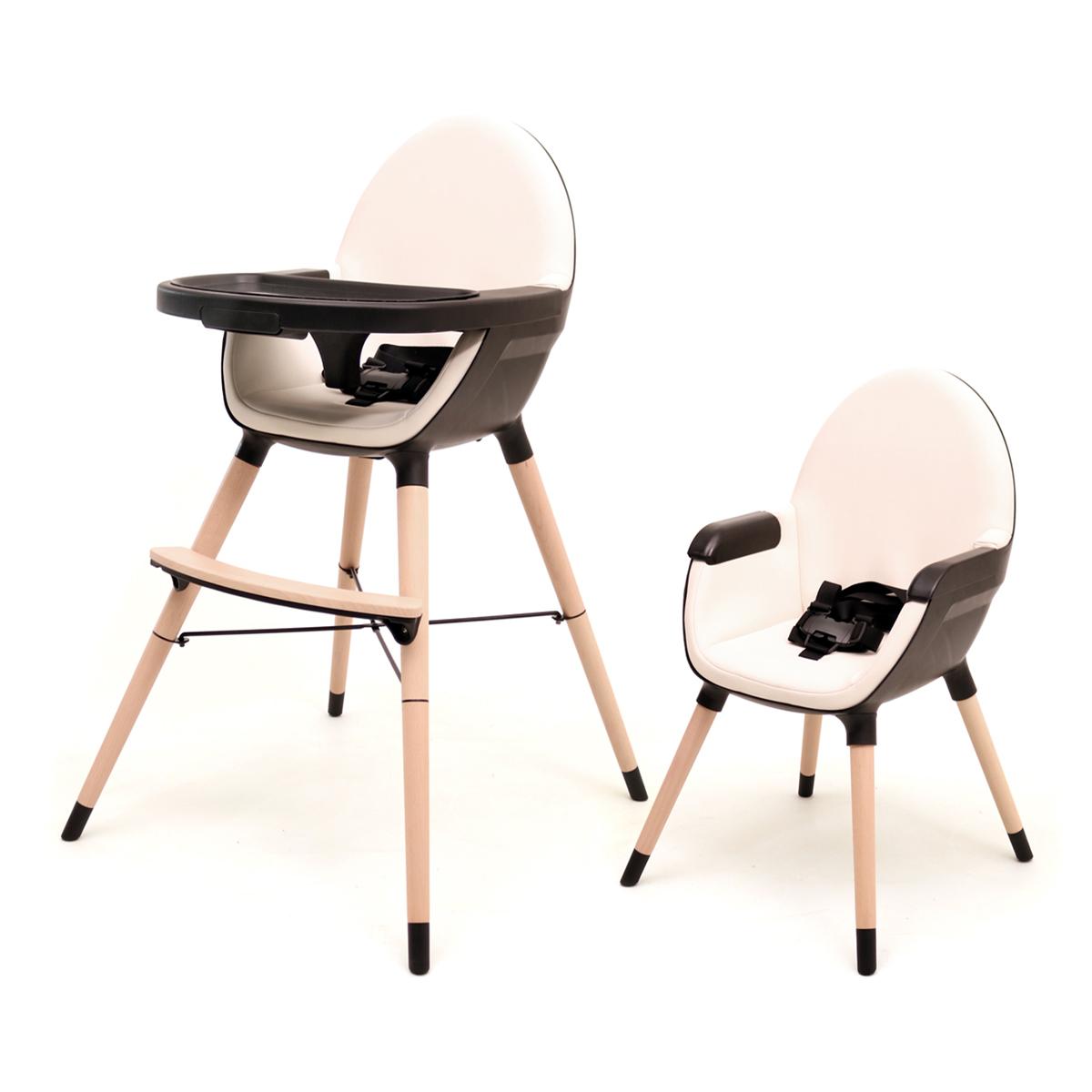 Chaise haute évolutive AT4 Essentiel Plus - Sable et noir