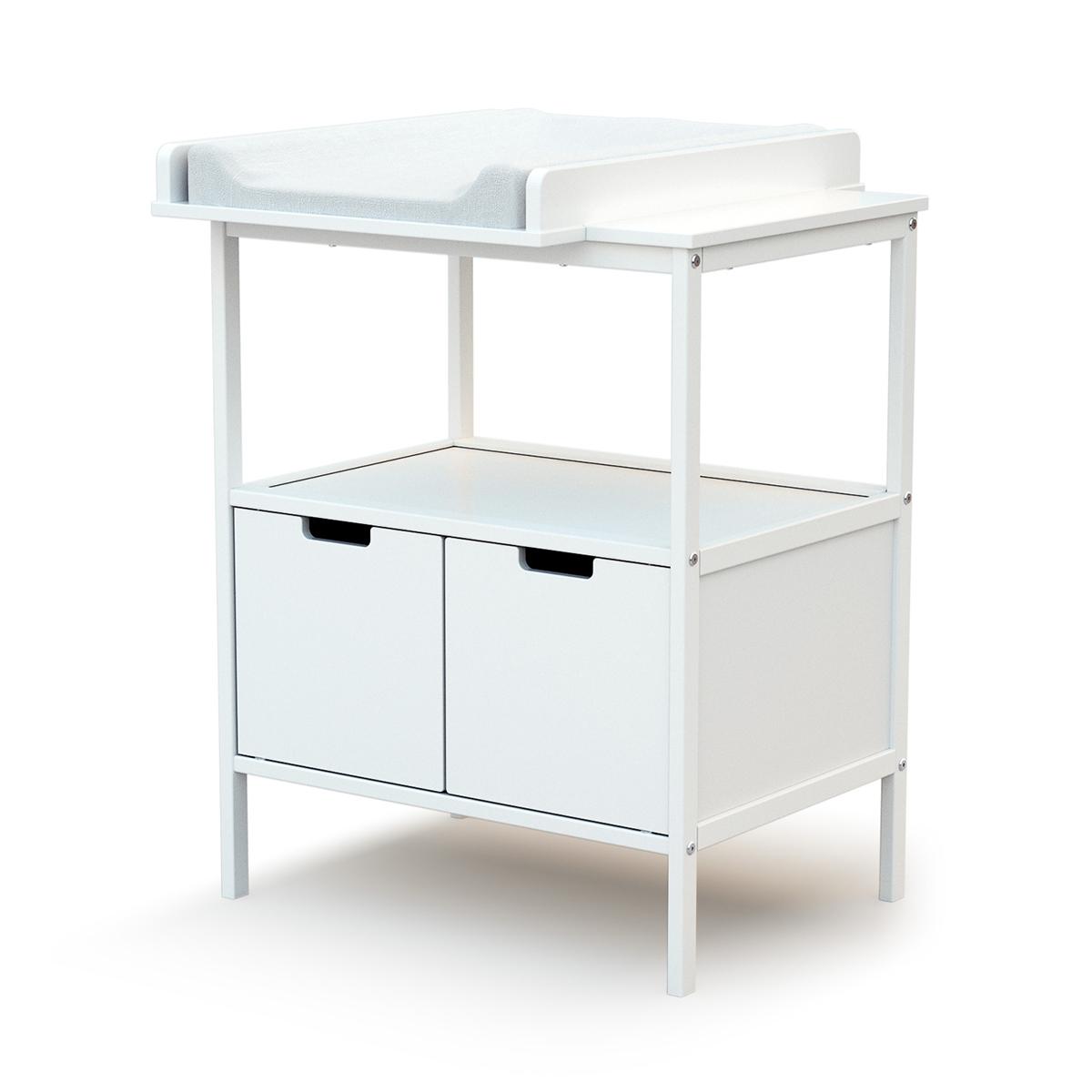 Table à langer 2 portes AT4 Essentiel - Blanc