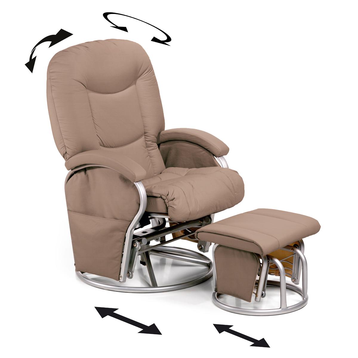 fauteuil d 39 allaitement hauck metal glider creme fauteuil de relaxation d 39 allaitement. Black Bedroom Furniture Sets. Home Design Ideas