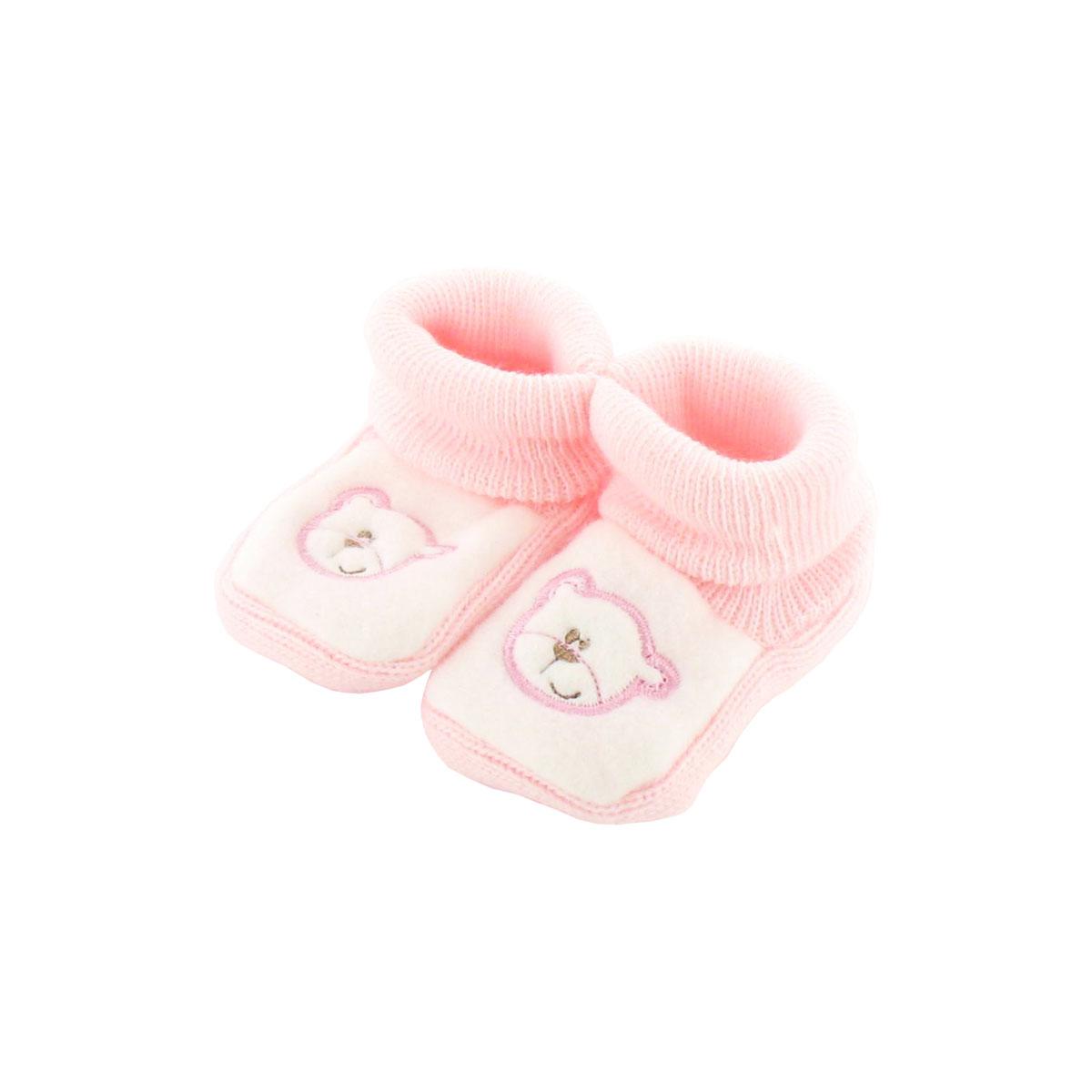 Chaussons pour bébé 0 à 3 Mois bleu et blanc - Motif Papa Ours M1Lg26HX9d