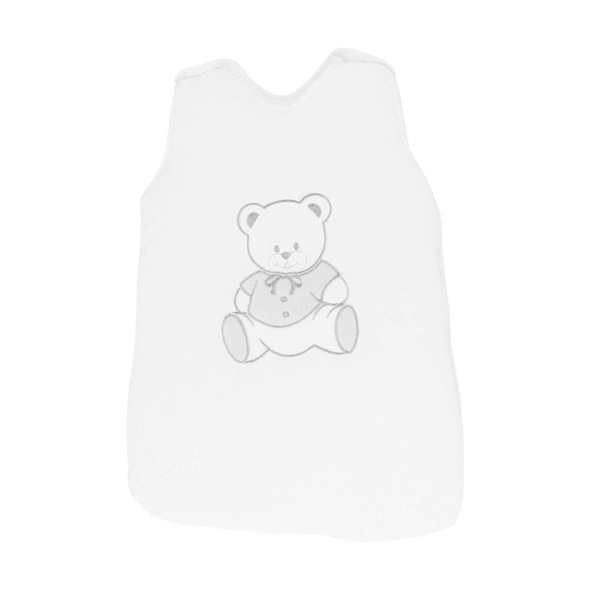 Gigoteuse pour bébé 0 à 6 Mois blanc et gris - Motif Nounours