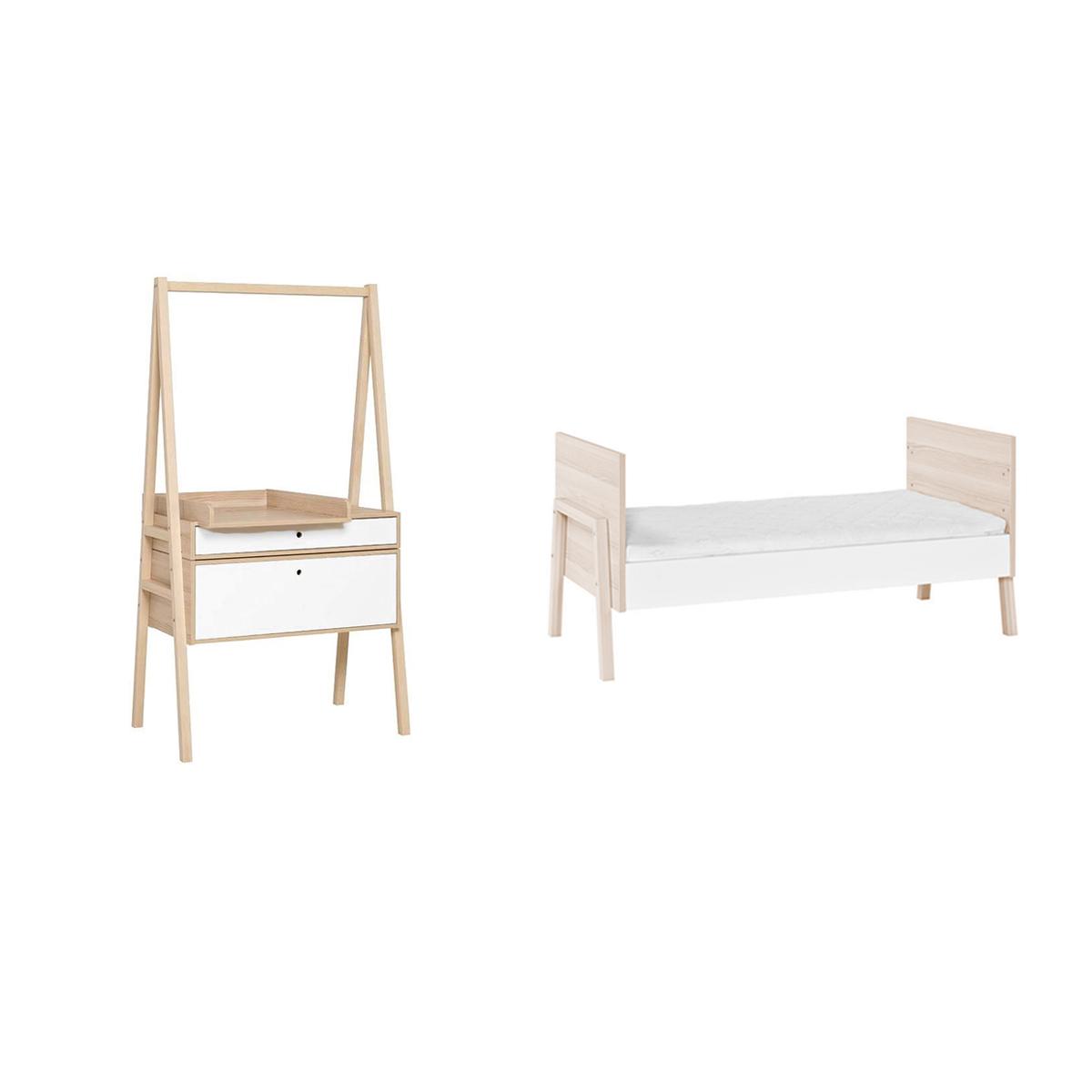 lit volutif 70x140 et commode langer volutive vox spot. Black Bedroom Furniture Sets. Home Design Ideas