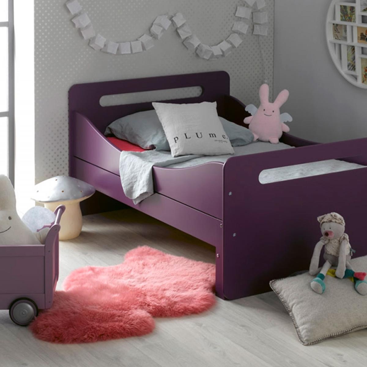 Lit évolutif 90x140 - 90x190 Junior Provence Féroé - Violet