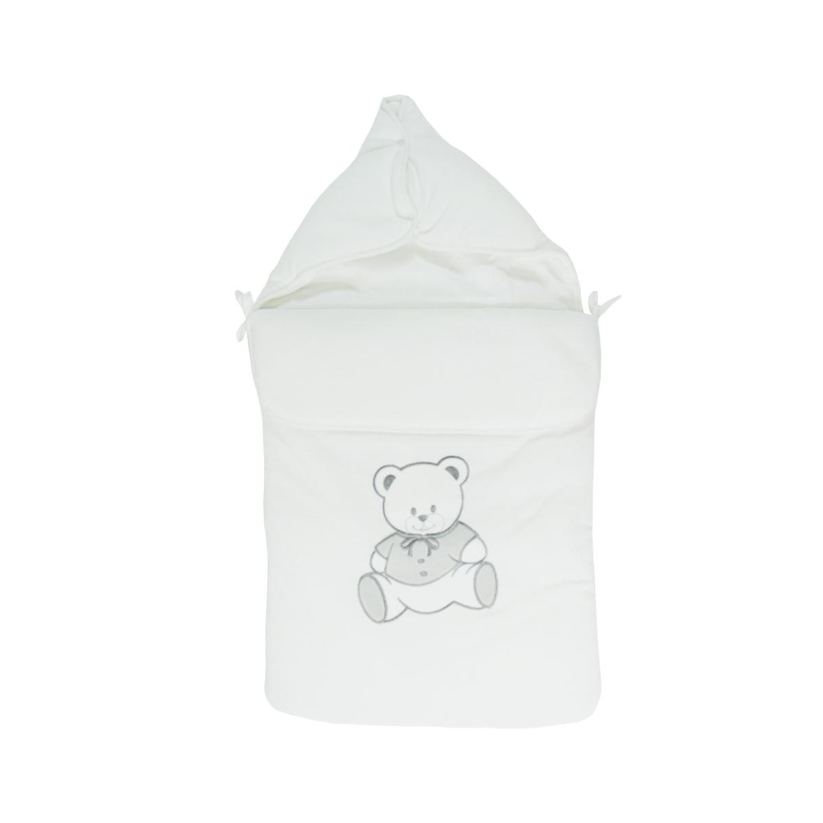 Nid d\'ange pour bébé 0 à 6 Mois blanc - Motif Nounours