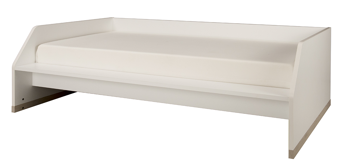 lit banquette 90x200 gami tiago blanc bois lits lit junior tendresse de b b. Black Bedroom Furniture Sets. Home Design Ideas