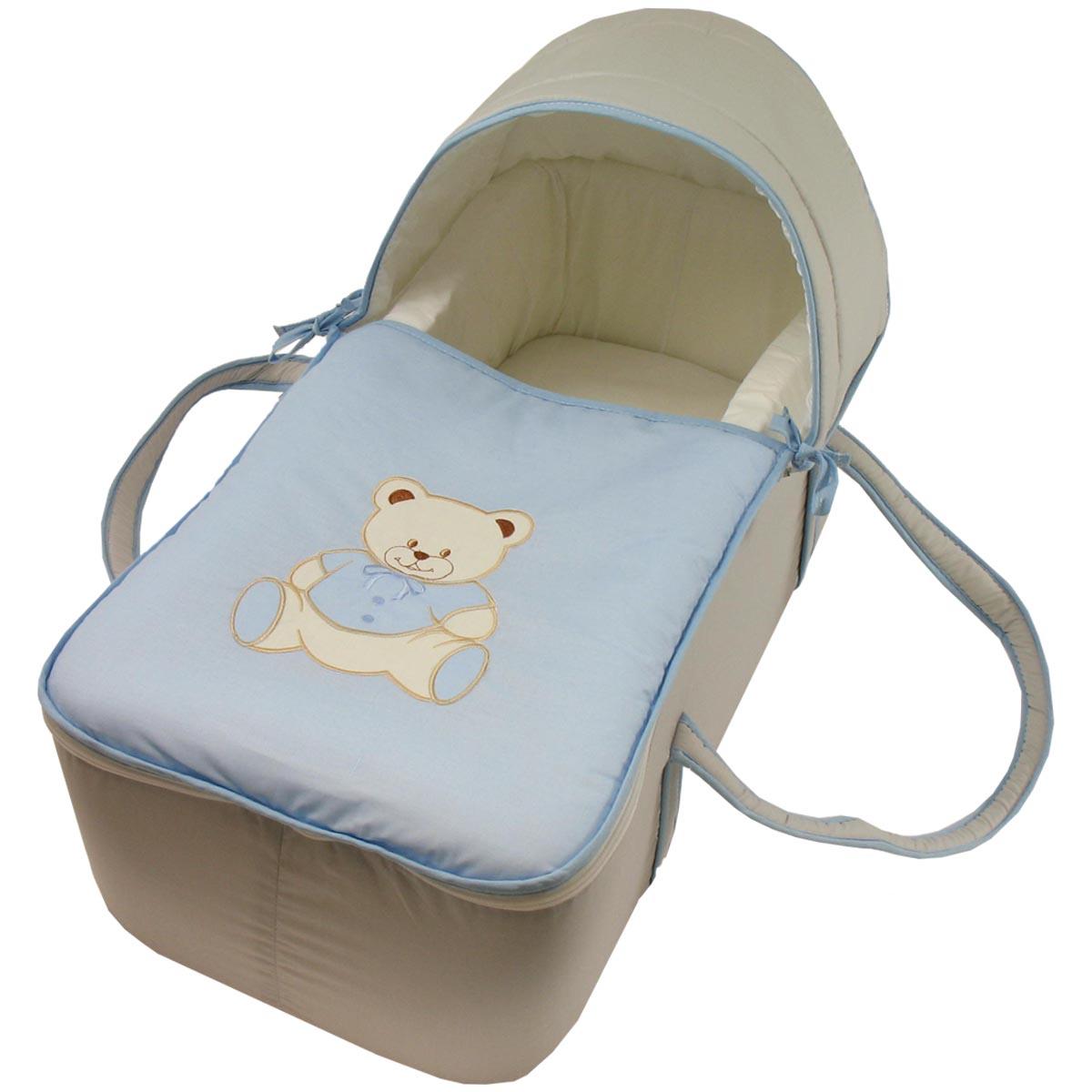 2 X bébé landau//berceau//couffin Drap Plat 100/% coton bleu