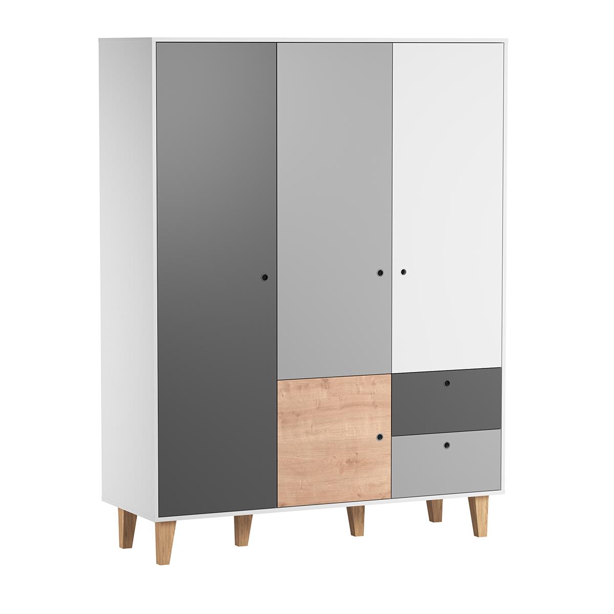 Armoire 3 portes Vox Concept - Bois